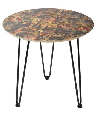 Decorsome x Batman Collage Table d'appoint en bois - Rose gold chez Casa Décoration