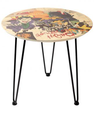Decorsome x Batman Gotham City Hero Table d'appoint en bois - Blanc chez Casa Décoration