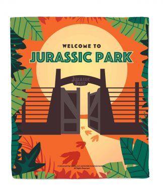 Jurassic Park Gates Bed Throw chez Casa Décoration