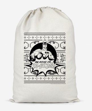Batman Be Good Or Ka Boom! Cotton Storage Bag - Large chez Casa Décoration