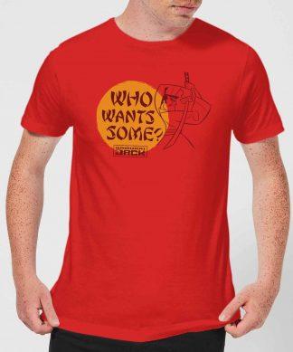 Samurai Jack Who Wants Some Men's T-Shirt - Red - XS - Rouge chez Casa Décoration