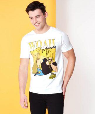 Cartoon Network Spin Off T-Shirt Johnny Bravo 90's Photoshoot - Blanc - XS chez Casa Décoration