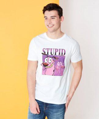 Cartoon Network Spin Off T-Shirt Courage Le Chien Froussard 90's Photoshoot - Blanc - XS chez Casa Décoration