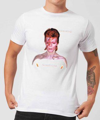 David Bowie Aladdin Sane Cover Men's T-Shirt - White - XS - Blanc chez Casa Décoration