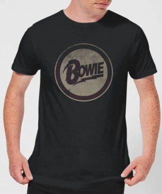 David Bowie Circle Logo Men's T-Shirt - Black - XS chez Casa Décoration