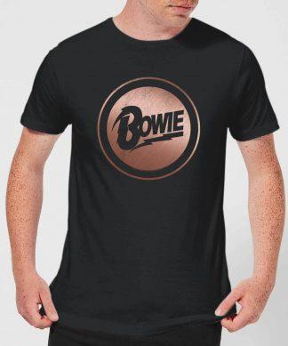 David Bowie Rose Gold Badge Men's T-Shirt - Black - XS - Noir chez Casa Décoration
