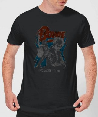David Bowie 72 Tour Men's T-Shirt - Black - XS chez Casa Décoration