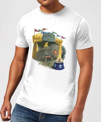 T-Shirt Homme Cirque Dumbo Disney - Blanc - XS - Blanc chez Casa Décoration