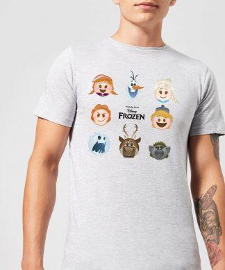 T-Shirt Homme La Reine des Neiges - Emoji - Gris - XS - Gris chez Casa Décoration