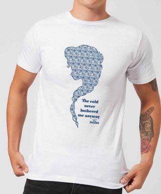 T-Shirt Homme La Reine des Neiges - The Cold Never Bothered Me Anyway - Blanc - XS - Blanc chez Casa Décoration