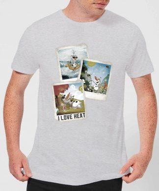 T-Shirt Homme La Reine des Neiges - Polaroid Olaf - Gris - XS - Gris chez Casa Décoration