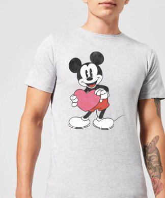 T-Shirt Homme Mickey Mouse Je t'Offre mon Cœur (Disney) - Gris - XS - Gris chez Casa Décoration