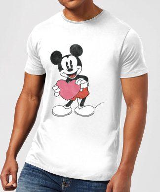T-Shirt Homme Mickey Mouse Je t'Offre mon Cœur (Disney) - Blanc - XS - Blanc chez Casa Décoration