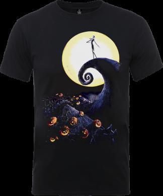 T-Shirt Homme Jack et Sally - L'Étrange Noël de Monsieur Jack - Noir - XS - Noir chez Casa Décoration