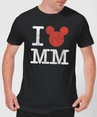 T-Shirt Homme I Heart MM Mickey Mouse (Disney) - Noir - XS - Noir chez Casa Décoration