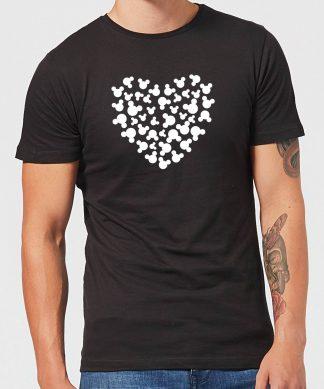 T-Shirt Homme Cœur Mickey Mouse (Disney) - Noir - XS - Noir chez Casa Décoration