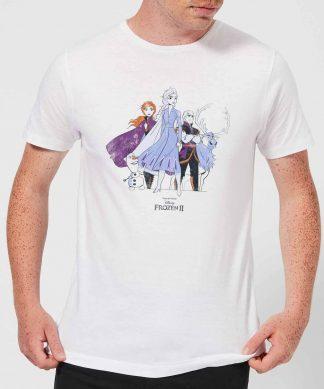 Frozen 2 Group Shot Men's T-Shirt - White - XS chez Casa Décoration
