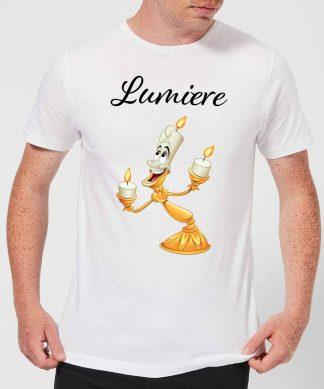 Disney Beauty And The Beast Lumiere Men's T-Shirt - White - XS - Blanc chez Casa Décoration