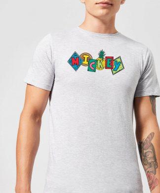 Disney Mickey Fruit Blocks Men's T-Shirt - Grey - XS - Gris chez Casa Décoration