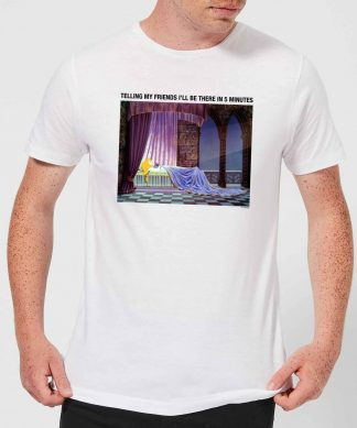 Disney Sleeping Beauty I'll Be There In Five Men's T-Shirt - White - XS - Blanc chez Casa Décoration