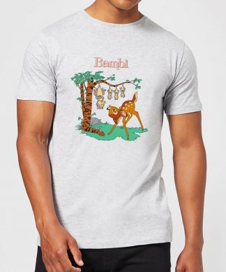 Disney Bambi Tilted Up Men's T-Shirt - Grey - XS - Gris chez Casa Décoration