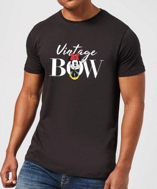 Disney Minnie Mouse Vintage Bow Men's T-Shirt - Black - XS - Noir chez Casa Décoration