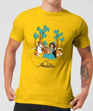 Disney Aladdin Princess Jasmine Men's T-Shirt - Yellow - XS chez Casa Décoration
