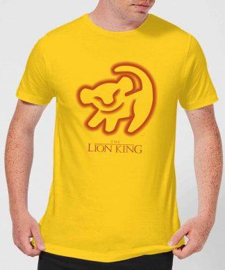 Disney Lion King Cave Drawing Men's T-Shirt - Yellow - XS chez Casa Décoration