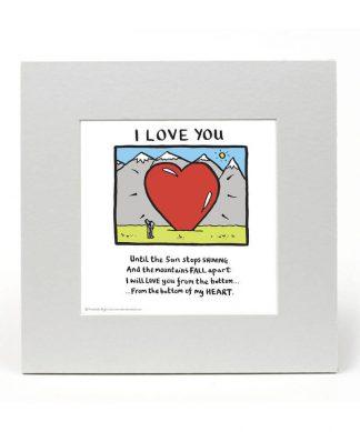 Impression Édition Limitée I Love You - Edward Monkton chez Casa Décoration