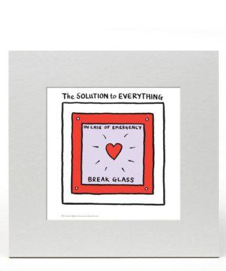 Edward Monkton Fine Art Print - The solution to everything chez Casa Décoration