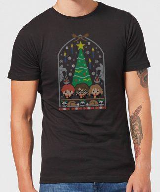 Harry Potter Hogwarts Tree Men's Christmas T-Shirt - Black - XS chez Casa Décoration