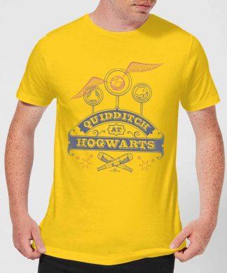 T-Shirt Homme Quidditch à Poudlard - Harry Potter - Jaune - XS chez Casa Décoration