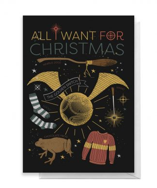 Harry Potter All I Want For Christmas Greetings Card - Giant Card chez Casa Décoration