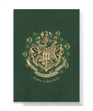 Harry Potter Crest Happy Christmas Greetings Card - Giant Card chez Casa Décoration