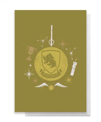 Harry Potter Hufflepuff Christmas Greetings Card - Giant Card chez Casa Décoration