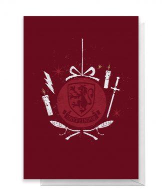 Harry Potter Gryffindor Christmas Greetings Card - Standard Card chez Casa Décoration