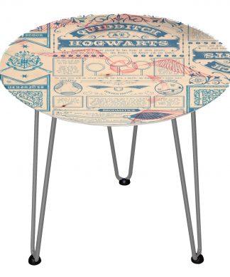 Table en bois Decorsome - Journal Harry Potter - Silver chez Casa Décoration