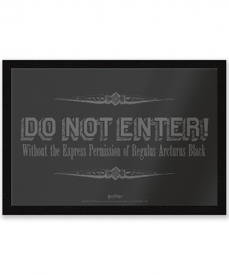 Paillasson Regulus Black Do Not Enter Harry Potter chez Casa Décoration