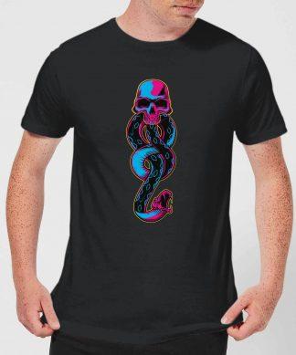 Harry Potter Dark Mark Neon Men's T-Shirt - Black - XS - Noir chez Casa Décoration