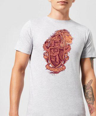 Harry Potter Gryffindor Drawn Crest Men's T-Shirt - Grey - XS - Gris chez Casa Décoration