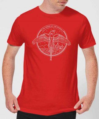 Harry Potter Order Of The Phoenix Men's T-Shirt - Red - XS - Rouge chez Casa Décoration