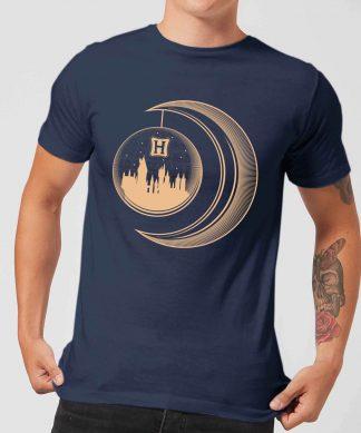 Harry Potter Globe Moon Men's T-Shirt - Navy - XS - Navy chez Casa Décoration