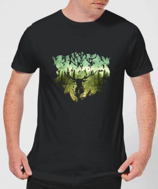 Harry Potter Patronus Lake Men's T-Shirt - Black - XS chez Casa Décoration