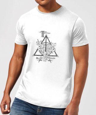 Harry Potter Three Dragons White Men's T-Shirt - White - XS - Blanc chez Casa Décoration