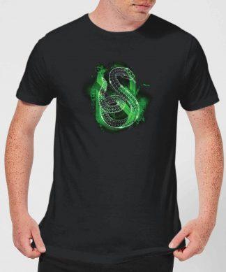Harry Potter Slytherin Geometric Men's T-Shirt - Black - XS - Noir chez Casa Décoration
