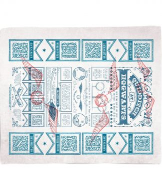 Harry Potter Quidditch Guide Fleece Blanket - M chez Casa Décoration