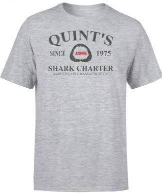 T-Shirt Homme Les Dents de la mer - Quints Shark Charter - Gris - XS - Gris chez Casa Décoration