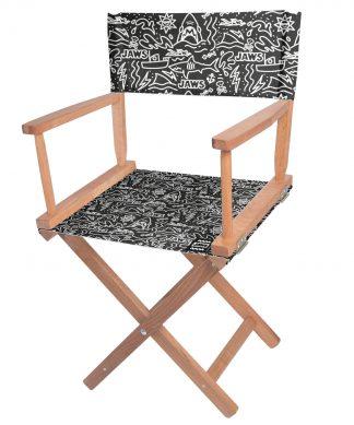 Decorsome Jaws Black Doodle Directors Chair chez Casa Décoration