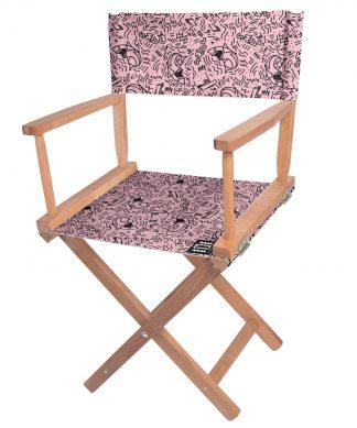 Decorsome Jaws Pink Doodle Directors Chair chez Casa Décoration