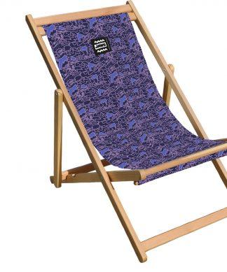 Decorsome Jaws Purple Doodle Deck Chair chez Casa Décoration
